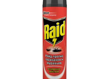 "Аэрозоль против тараканов и муравьев ""Raid"""